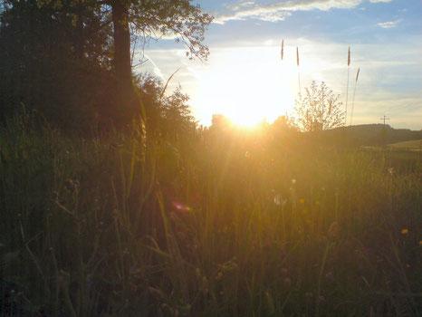 Sonnenuntergang an der Lauterach