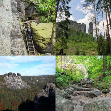 Affensteine, Wanderroute, sächsische Schweiz, faszinierende Feldwelten, Beuthenfall, Klettern, Wandern, Schrammsteine