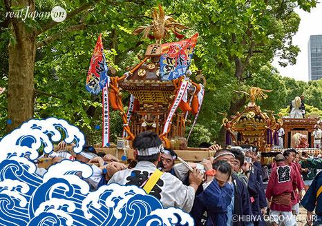日比谷大江戸まつり, HIBIYA OEDO MATSURI 2019, お祭りパレード, 水掛け祭り, Water Festival,