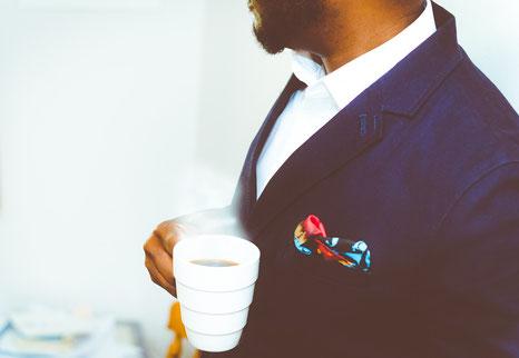 Bild: Gentleman mit Stecktuch