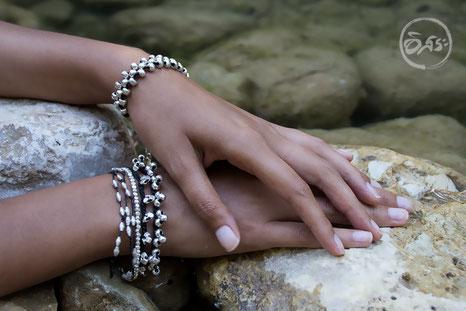 Bracelets argent massif création
