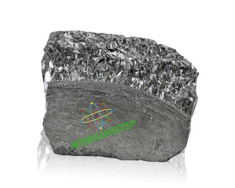 puro cristallo di antimonio elemento 51 della tavola periodica