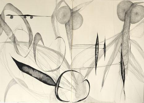 """""""Mutation"""", 2-teilig, 140 x 100 cm, 2015"""