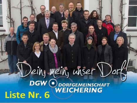 Dorfgemeinschaft Weichering - Liste Nr. 6