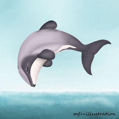 Der Hector Delfin Ein Monochromer Zwerg In Gefahr