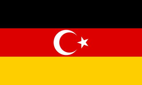 Sogenannte Deutsch-Türkische Flagge