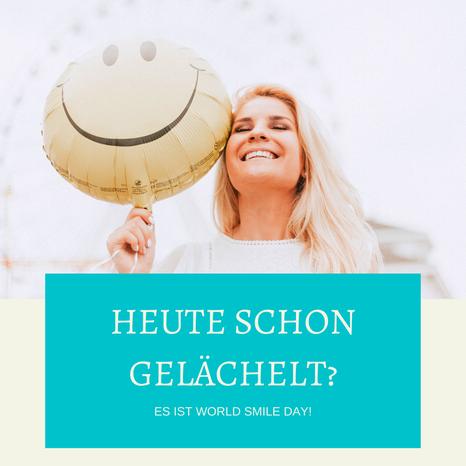 Heute ist world smile day! Wieso lachen glücklich macht. - Ein Artikel von Glücks-Coach Sabrina Sierks