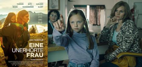 Filmplakat: Eine unerhörte Frau, Setfoto mit Romy und Rosalie Thomass © ZDF