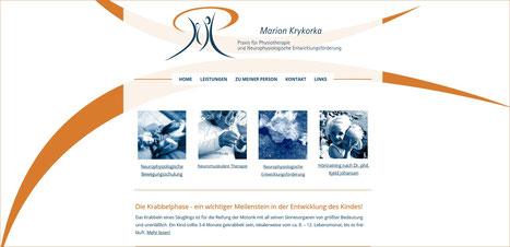 Webseite Praxis Krykorka