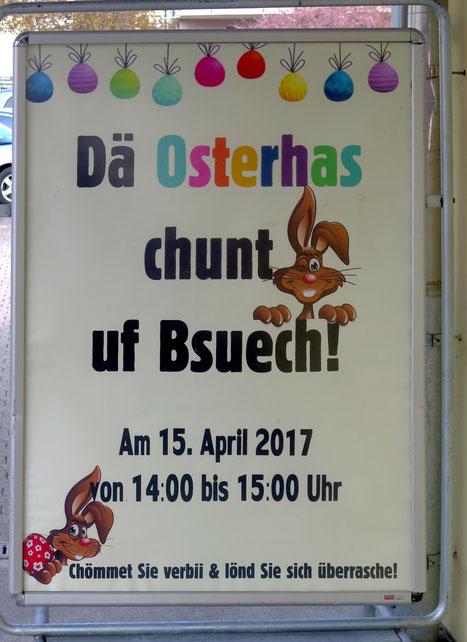 15. April 2017 - Es gibt ihn doch, den Osterhasen
