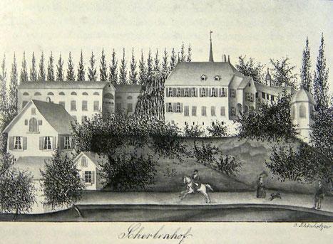 links im Bild eine Brauerei, die 1893 abbrannte