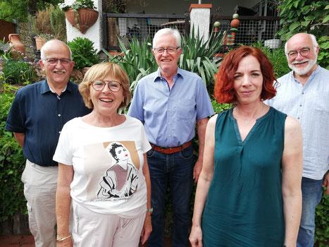 Vorstand: v.l. Heinz-Werner Ix, Renate Othmer, Gerhard Winter, Elke Enders, Walter Eichler