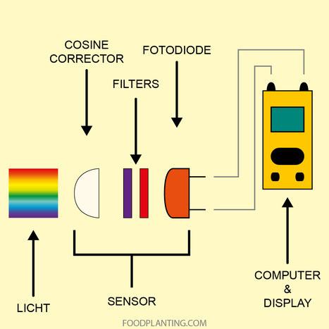 onderdelen van een par lichtmeter