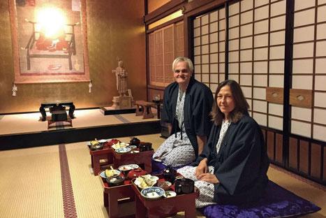 Japan Koyasan Tempelunterkunft mit guter Küche Kumagaiji