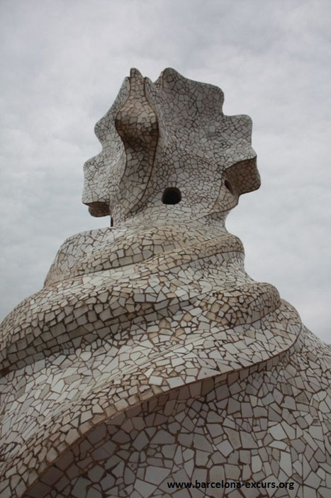 Дом Мила (Ла Педрера) - крыша
