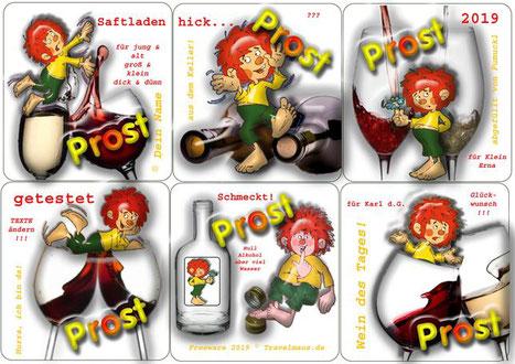 Pumuckl-Flaschenetiketten ( am PC Texte ergänzen)