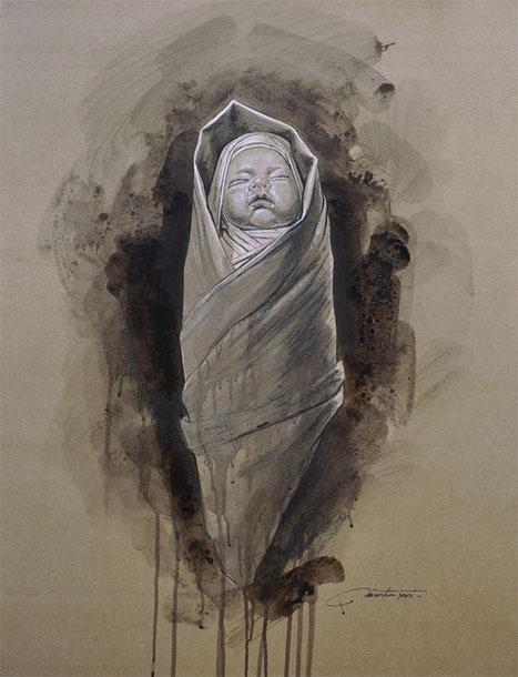 "F.MARTIN© Dessin étude ""Nativité-2"""
