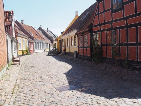 エロスコービンはいかにもデンマークの島の町という感じだ。