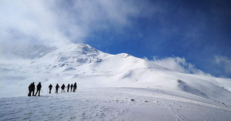 randonnée raquettes la nordique à la journée montagne paysages d'altitude