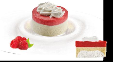 Bûche sorbet framboise & crème de nougat