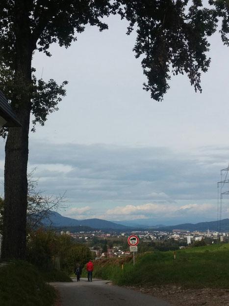 Blick auf Klagenfurt