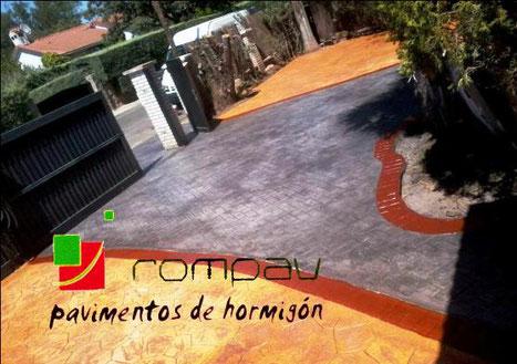 pavimento hormigon impreso, cemento impreso,hormigon estampado