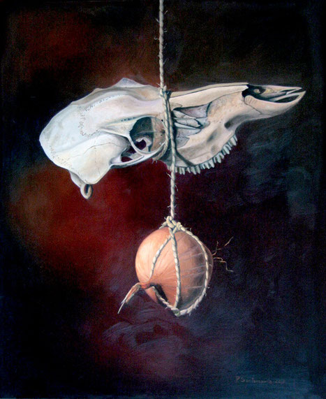 Hambre (Homenaje a Miguel Hernández) 2010, óleo sobre lienzo 73X60 cm