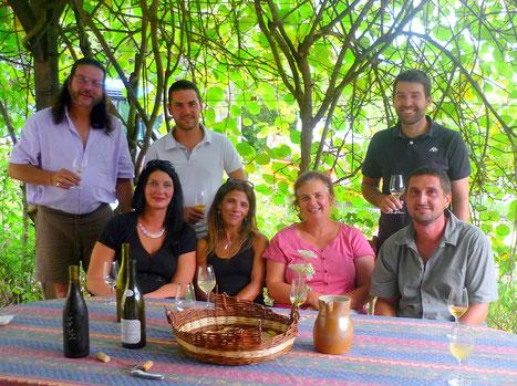 L'équipe d'été : Didier, Aurore, Manu, Silvina, Joelle, Fabien et Dido.