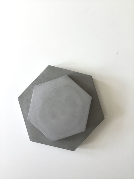 Concrete Hexagon Coaster DIY  Heidi Mergl Architect