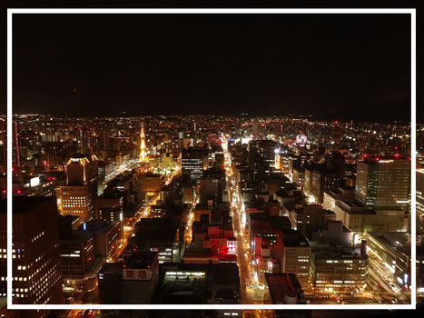 The beautiful night view of Sapporo