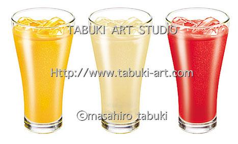 NRD2951 drink ジュース リアルイラスト シズル 清涼感