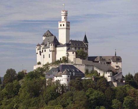 Die Marksburg bei Braubach/ Foto vom deutschen Burgen Verein.