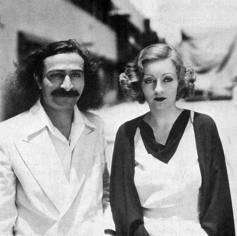 31st May, 1932 : Paramount Studios, Hollywood, CA. Meher Baba with Tallulah Bankhead ( cropped image by Anthony Zois )