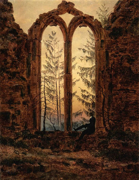 "Caspar David Friedrich, ""Il sognatore"" (1835)"