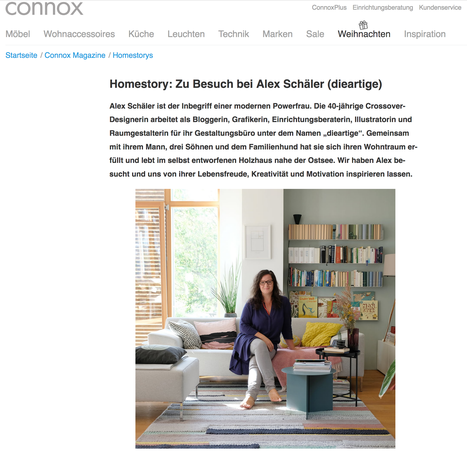 dieartige -  im Interview mit Connox, Homestory