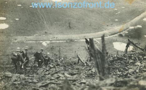 24.10.1917 8:00 Uhr. Der Sturm beginnt.