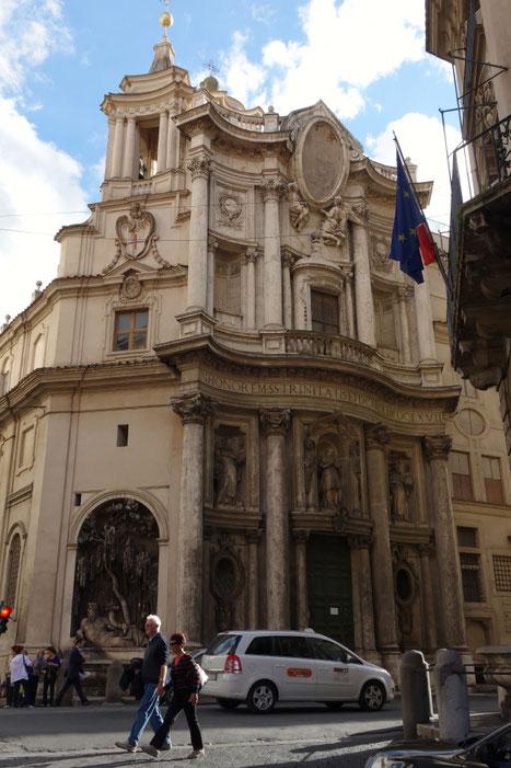 Rom - San Carlo alle Quattro Fontane mit Tiberbrunnen