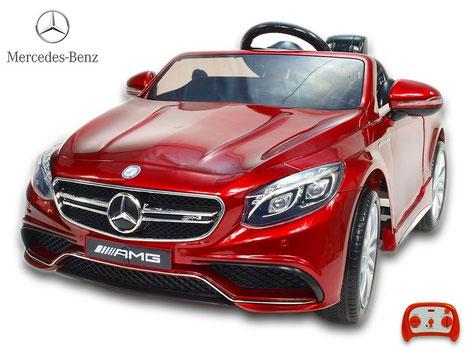 Mercedes AMG S63/Kinderauto/Kinder Elektroauto/weinrot lackiert/lizensiert/