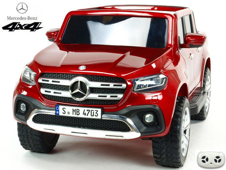 Mercedes/X-Class/Allrad/4WD/2 Sitzer/Kinderauto/Kinder Elektroauto/Kinder Auto/lizensiert/weinrot lackiert