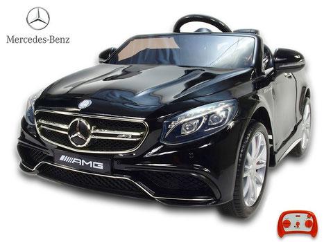 Mercedes AMG S63/Kinderauto/Kinder Elektroauto/schwarz lackiert/lizensiert/