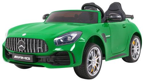 Mercedes AMG GT R/2 Sitzer/Sonderedition/Kinderauto/Kinder Elektroauto/Kinderautos/Kinder Elektroautos/Kinder Auto/grün lackiert/lizensiert/