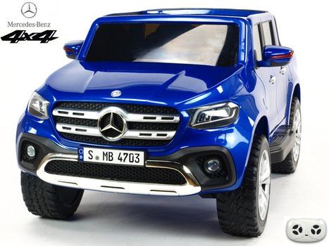 Mercedes/X-Class/Allrad/4WD/2 Sitzer/Kinderauto/Kinder Elektroauto/Kinder Auto/lizensiert/blau lackiert