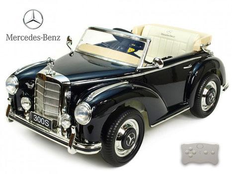 Mercedes S300/Oldtimer/Retro/Kinderauto/Kinder Elektroauto/Kinderautos/Kinder Elektroautos/Kinder Auto/blau lackiert/lizensiert/rosa