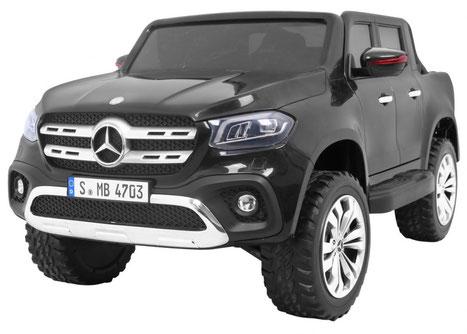 Mercedes/X-Class/Allrad/4WD/2 Sitzer/Kinderauto/Kinder Elektroauto/Kinder Auto/lizensiert/silber lackiert
