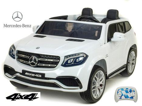 Mercedes AMG GLS63/2 Sitzer/Kinderauto/Kinder Elektroauto/Kinderautos/Kinder Elektroautos/Kinder Auto/weiss/lizensiert/