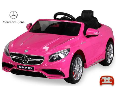 Mercedes AMG S63/Kinderauto/Kinder Elektroauto/Kinderautos/Kinder Elektroautos/Kinder Auto/pink/lizensiert/rosa