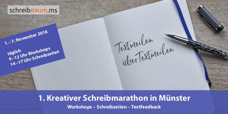 Der erste Münsteraner Schreibmarathon bietet passend zum NaNoWriMo jede Menge Zeit und Ideen zum Schreiben.