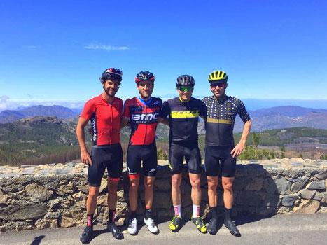 Höher rauf geht auf Gran Canaria nicht - zusammen mit Adrian Zahnd, Danilo Wyss & Manuel Küng auf dem Pico de las Nieves 1949m.ü.M.