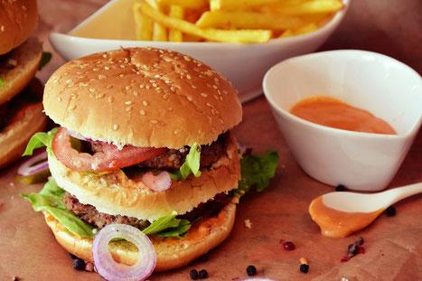 Burger Pommes Hamburger Cheeseburger Fast Junk Food