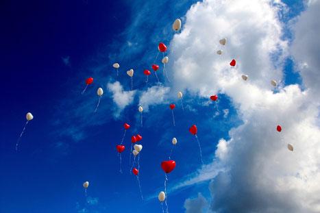 Luftballon zur Hochzeit in München